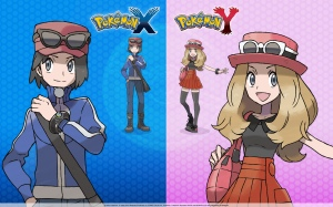 The male and female character design for the recently released Pokemon XY game on Nintendo DS XD